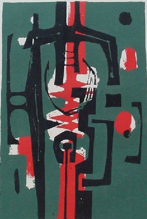 Untitled (Black, Green and Red), 1956