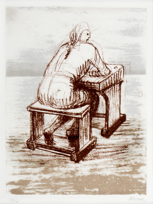 Girl Seated at a Desk III