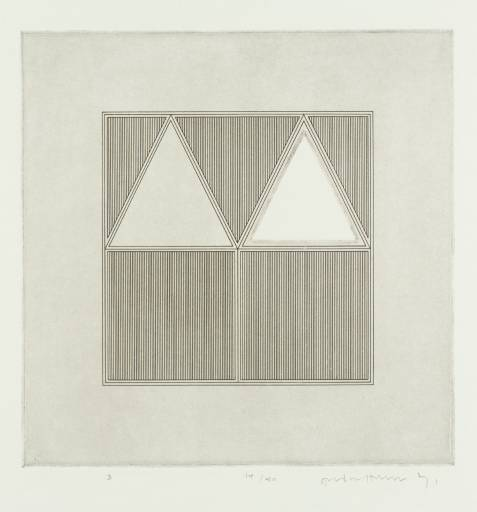 Triangles Within a A Square, 1971