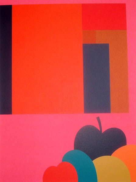 Abstract Painting with Fruit