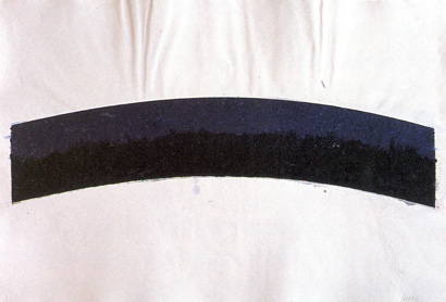 Colored Paper Image III (Blue Black Curves)