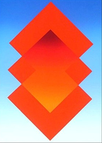 UNTITLED, RED ORANGE BLUE