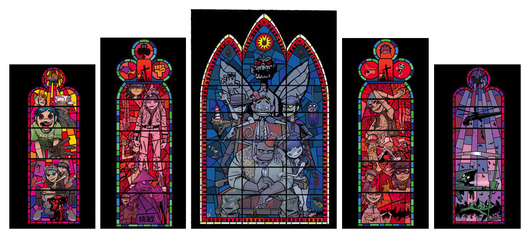 Stained Glass Window Set