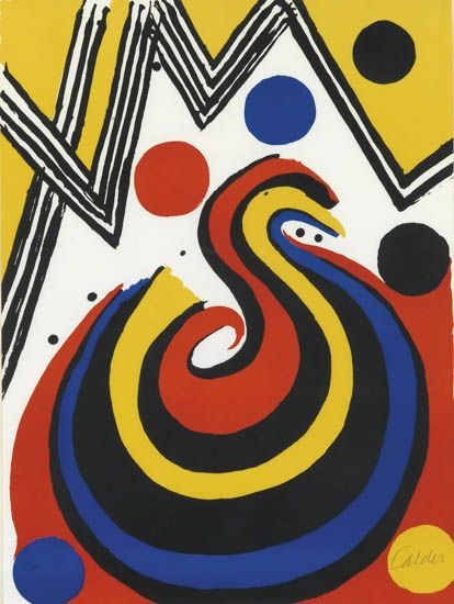 Abstract Composition In Red Yellow Blue And Black