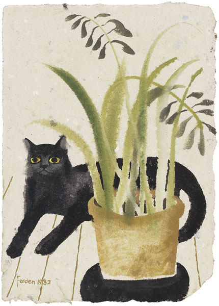 Black Cat and Plant 1982