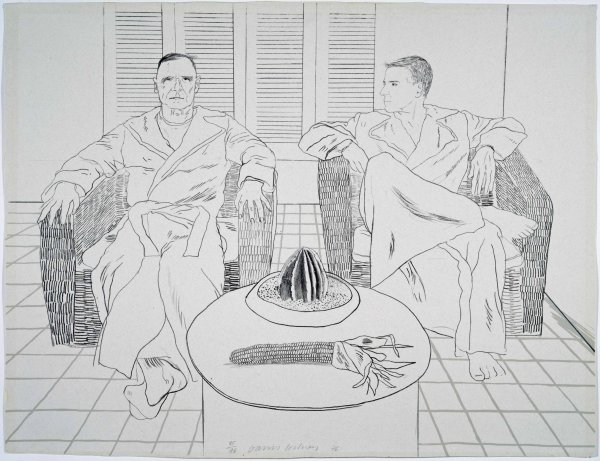 Christopher Isherwood and Don Bachardy