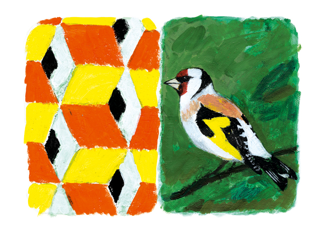 Stones of Venice Goldfinch Diptych