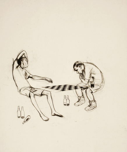 Untitled (Chesches Players outside the One-Armed Snake)