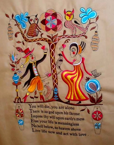 Recipe for Humanity (tapestry) Embroidery