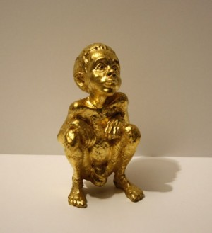 LV Child Gold Sculpture