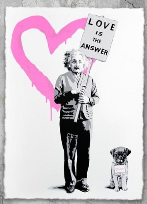 E=MC2 LOVE IS THE ANSWER Pink