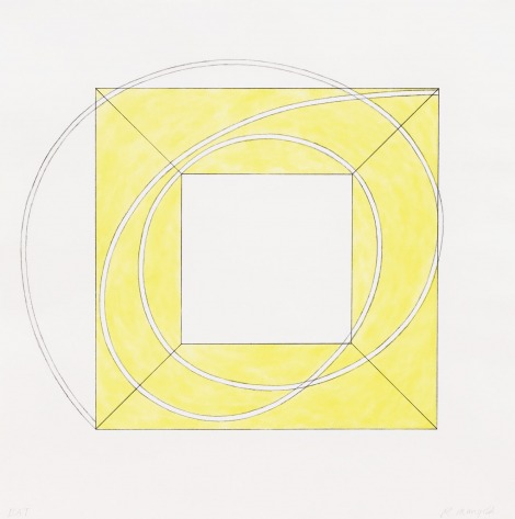 Framed Square With Open Centre A (yellow)