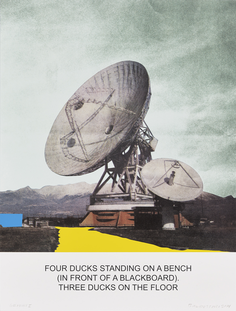 The News: Four Ducks Standing on a Bench...