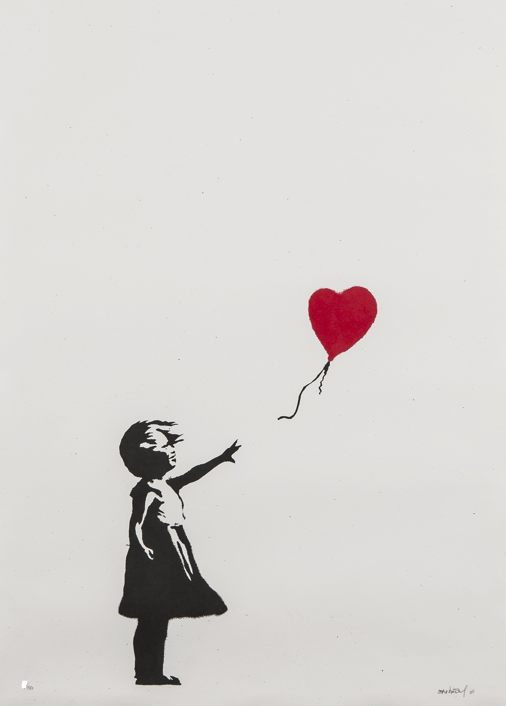 Banksy Girl With Red Balloon SIGNED