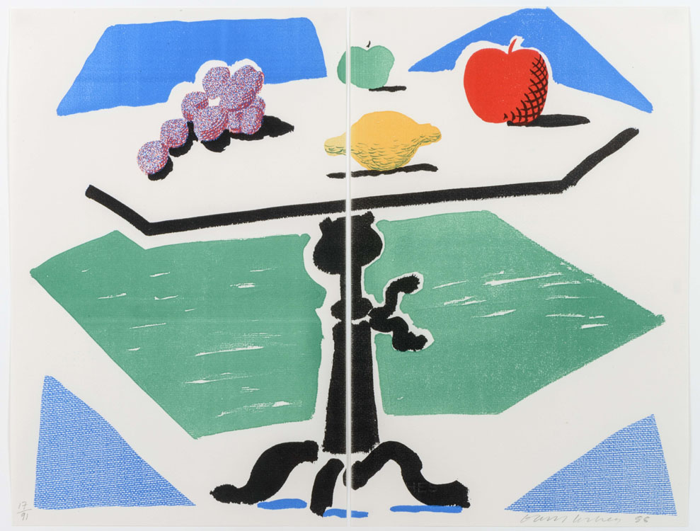 Apples, Grapes, Lemon on a Table, 1988