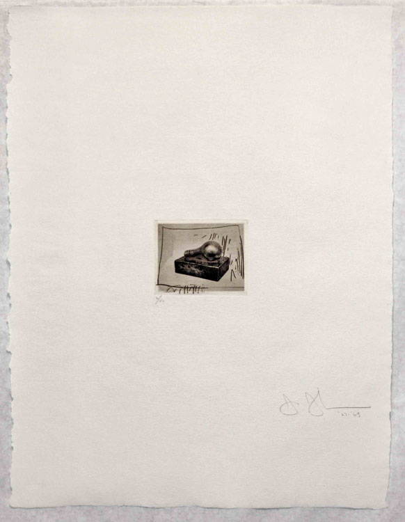 Light Bulb (Small), 1st Etchings, 2nd State, 1967-69