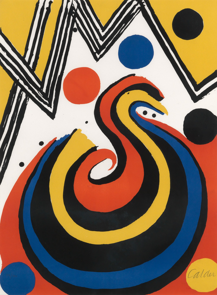 Abstract Composition in Red, Yellow, Blue and Black
