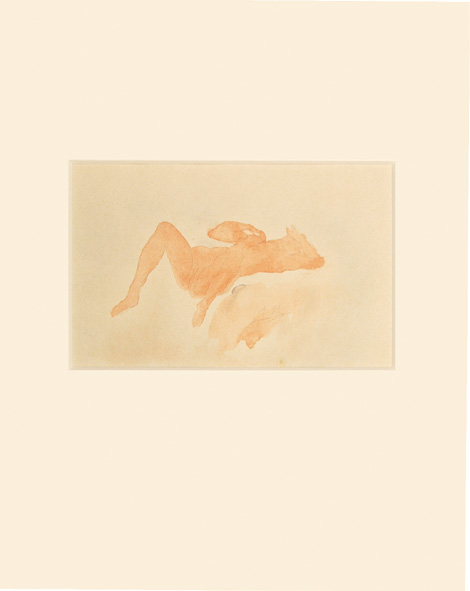 Woman Laying on Her Back (from Douze Aquarelles)