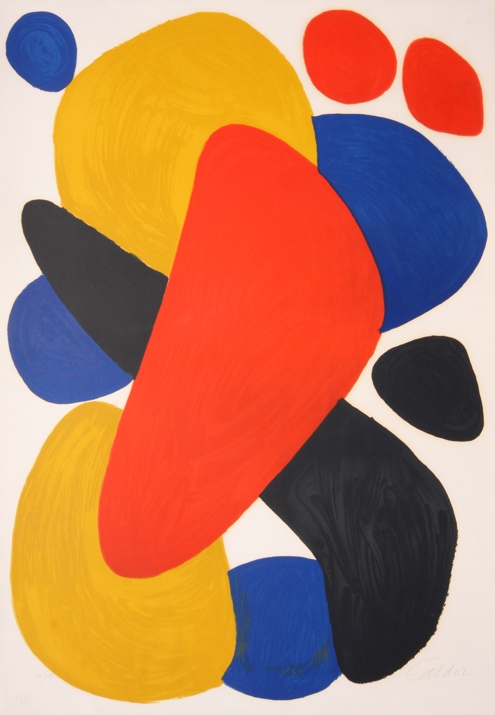 ABSTRACT COMPOSITION WITH RED, YELLOW, BLUE