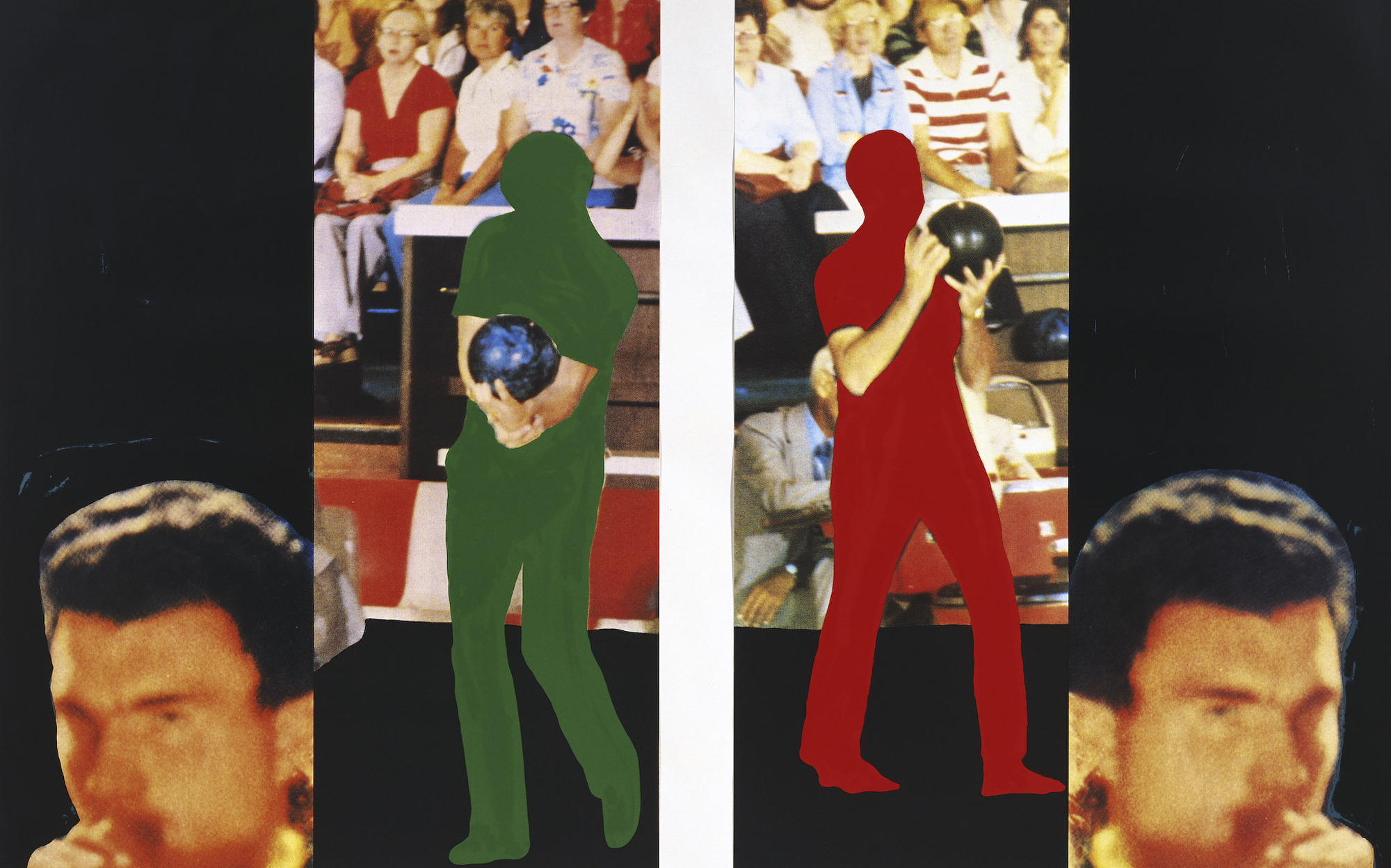 Two bowlers (with questioning person)