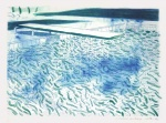 Lithograph of Water Made of Lines and a Green Wash - click to enlarge