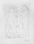 Deux Hommes Sculptes - Three Nude Men Standing  - click to enlarge