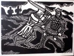 'He smote his father, King Arthur with his sword held in both his hands.' (the Death of King Arthur)  - click to enlarge