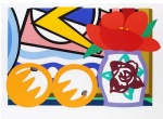 Still Life with Lichtenstein and Two Oranges - click to enlarge