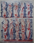 Red and blue standing figures - click to enlarge