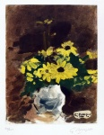Vase de Fleurs Jaunes (Vase of Yellow Flowers), 1960 - click to enlarge