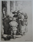 Beggars Receiving Alms at the Door of a House - click to enlarge