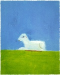 Lamb in a Green Field - click to enlarge