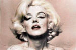 Marilyn Monroe Pink Portrait - click to enlarge