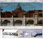 Ponte Sant Angelo, Wrapped – Project for Rome - click to enlarge