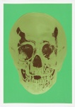 Viridian Leaf Green Chocolate Skull - click to enlarge