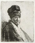 Bust of a man wearing a High Cap (artists father?) - click to enlarge