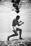 Cassius Clay training in a pool at the Sir John Hotel in Miami - click to enlarge