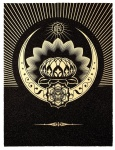 Obey Lotus Crescent (Black & Gold) - click to enlarge