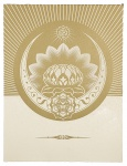 Obey Lotus Crescent (White & Gold) - click to enlarge