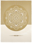 Obey Lotus Diamond (White & Gold) - click to enlarge