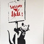 Welcome To Hell Placard Rat in red  - click to enlarge
