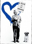 E=MC2 LOVE IS THE ANSWER Blue - click to enlarge