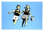 Banksy Jack and Jill (Police Kids) signed - click to enlarge