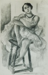 Dix Danseuses: Danseuse au Tabouret (Ten Dancers: Dancer on a Stool) - click to enlarge