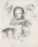 Studies of the Heads of Saskia and Other Women - click to enlarge
