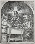 Christ at Emmaus (The Small Passion), 1612 - click to enlarge