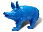 Cloned blue father pig with boots - click to enlarge
