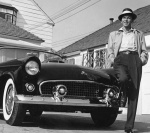 Frank Sinatra next to his T-Bird,  - click to enlarge