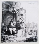 Christ and the Woman of Samaria Among Ruins - click to enlarge