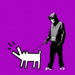 Banksy Choose your Weapon Purple  - click to enlarge